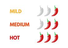 Set Of Hot Red Pepper Strength...
