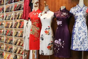Chinese traditional dress store / cheongsam.