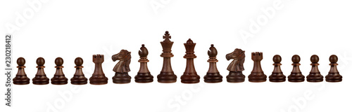 Fotografie, Obraz Wooden chess figures
