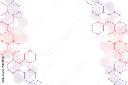Molecular structure and chemical elements Fototapet