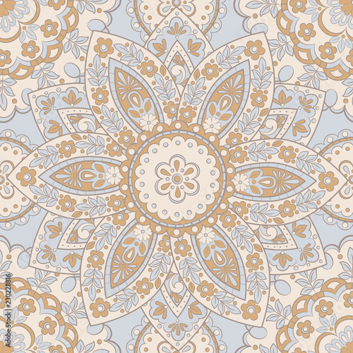 Seamless vintage vector background. Vector floral wallpaper