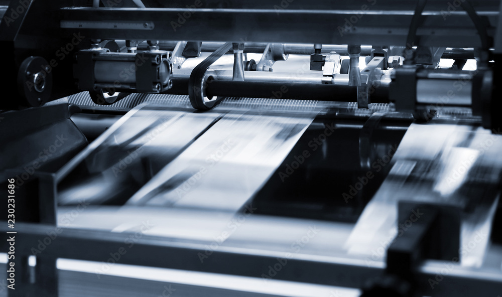 Fototapeta Polygraphic process in a printing house