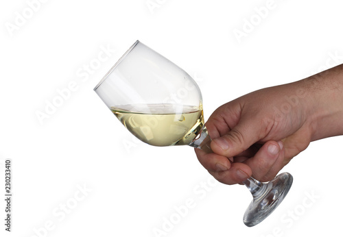 Fotografie, Obraz  goblet of wine kept in a hand