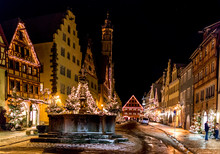 Christmas Eve In Rothenburg, Germany