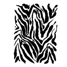 Brush Painted Zebra Pattern. B...