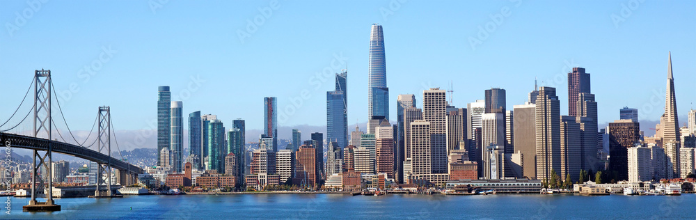Fototapeta Colourful skyline of San Francisco, California
