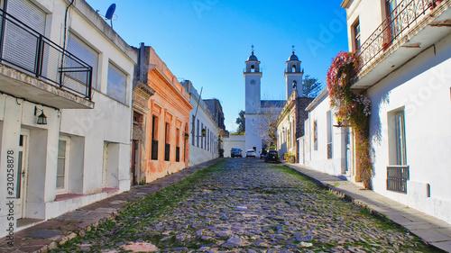 Uruguay, Streets of Colonia Del Sacramento in historic center (Barrio Historico)