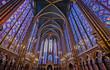 canvas print picture - Sainte-Chapelle, Paris