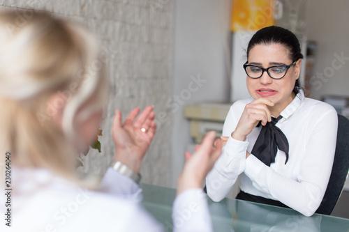 Obraz Job interview goes wrong - fototapety do salonu