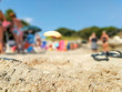 Summer life and fun in a beach in summer in Salento Italy