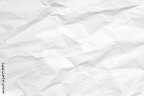 White crumpled paper texture background. - 230279052