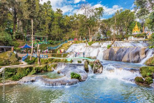 Keuken foto achterwand Asia land Pwe Gauk Waterfall Pyin Oo Lwin Mandalay state Myanmar (Burma)