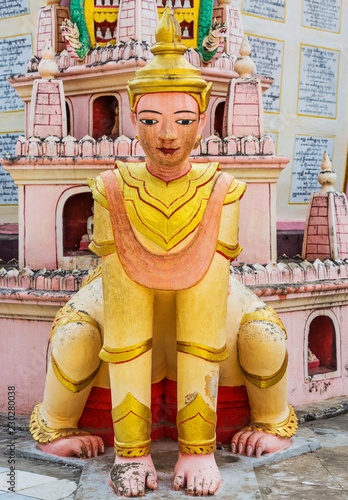Poster Asia land statue of the Thanboddhay Phaya near Monywa Myanmar (Burma)