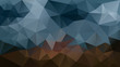 vector abstract irregular polygonal background - triangle low poly pattern - dark indigo night blue and brown color