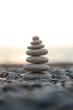 The Zen stones on the beach