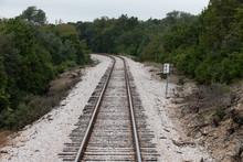 Railroad Tracks On The Way To Burnet Texas