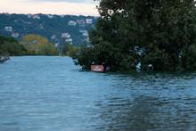 Flood At Mansfield Dam Park Austin Texas