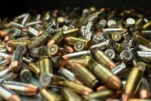Large Pile Of Assorted Handgun Bullets