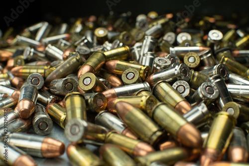 Cuadros en Lienzo Large pile of assorted handgun bullets