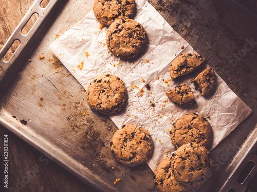 Garden Poster Cookies topview of homemade chocolate cookies