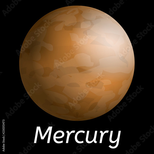 Fotografie, Obraz  Mercury planet icon