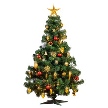 Artificial Christmas Tree With Beautiful Classic Vintage Decorations