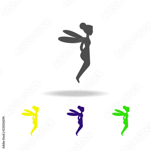 fairy silhouette multicolored icons  Element of fairy-tale