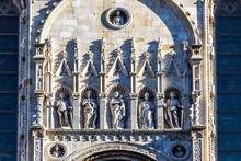 Details Of Exterior Of Como Cathedral (Duomo Di Como), Lombardy, Italy