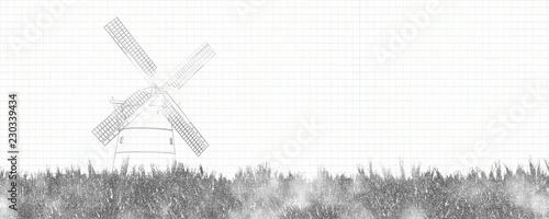 Poster Molens traditional windmill