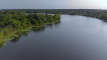 Aerial, 4k Flyover Chateauguay...
