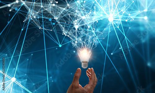 Fototapeta Innovative idea in businessman hand obraz na płótnie