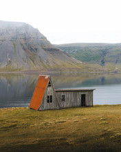 Old Barn In Iceland