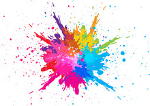 Abstract Splatter Color Backgr...