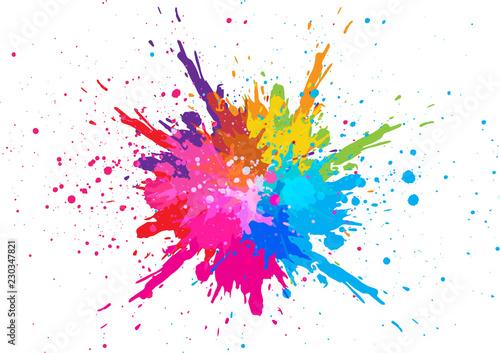 Fotografia abstract splatter color background. illustration vector design
