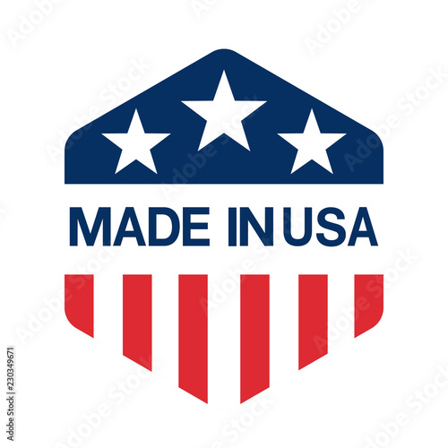 Photographie made in USA sign vector