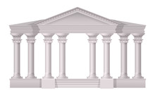 Antique White Columns Realisti...
