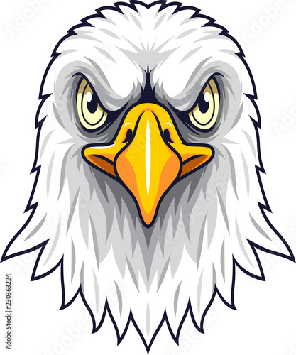 Cartoon Eagle head mascot #230363224