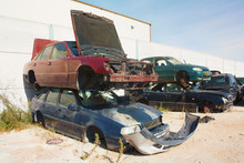 A Graveyard Of Cars, Broken Cars Sell On Spare Parts.