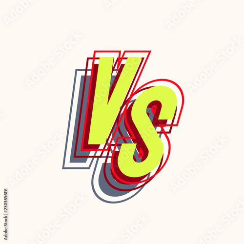 Vector Versus Sign Cartoon Style For Banner Sport Competition