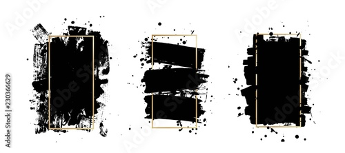 Photo Vector artistic ink brush strokes