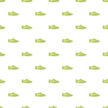 Green Shoe Pattern Seamless Repeat Background For Any Web Design