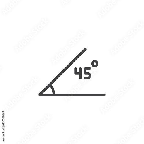 Photo 45 Degrees Angle outline icon