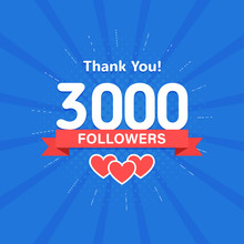 Thank You 3000 Followers. Cong...
