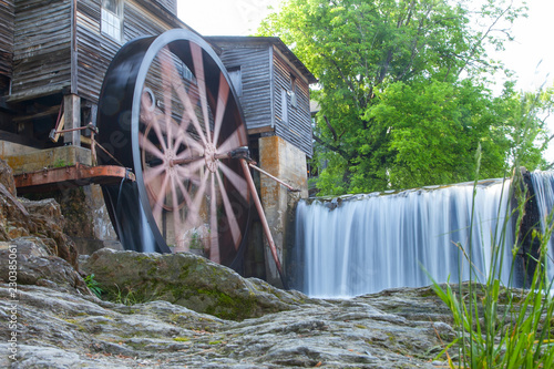 The Old Mill, is a historic gristmill in the U Canvas Print