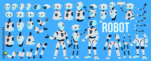 Robot Vector Wallpaper Mural
