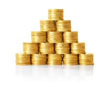 Pyramide Aus Goldenen Münzen