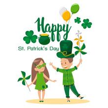 Happy St. Patrick's Day Cartoon Vector Design. No3