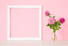 Fresh, Pink Clover In Vase At ...