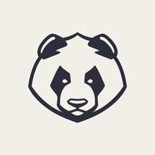 Panda Mascot Vector Icon