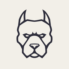 Pitbull Mascot Vector Icon